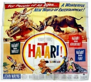 Hatari safari movie poster