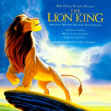 Lion King film cover - cartoon lion