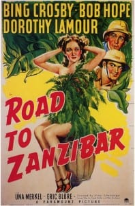 Road To Zanzibar movie DVD cover