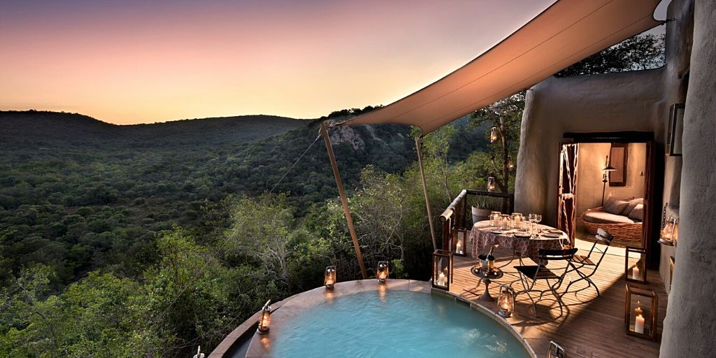 luxurious private pool at phinda mountain lodge