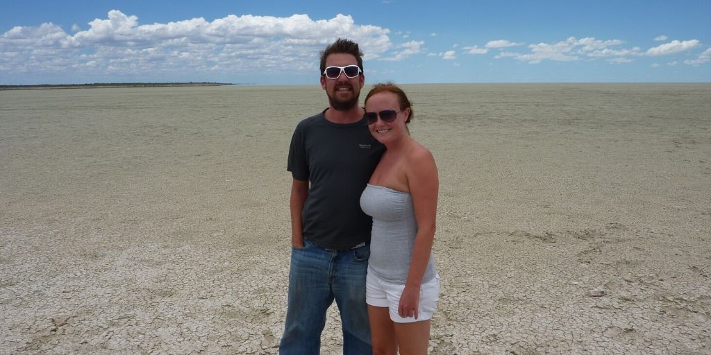 Ed & Jacs in Etosha National Park