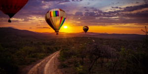 balloon safari over the serengeti