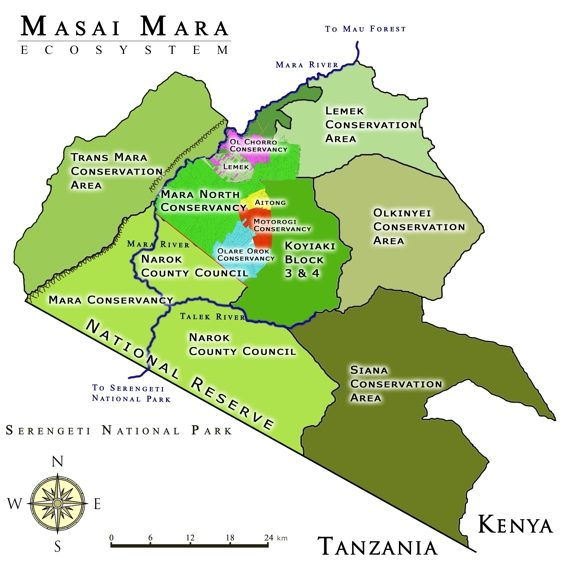 map of masai mara national park