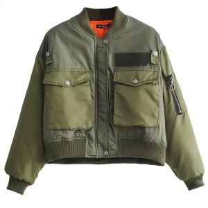 womens safari bomber jacket