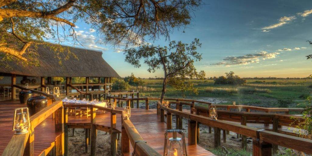 Outdoor area at Camp Okavango