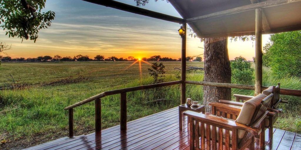 shinde camp views at sunset