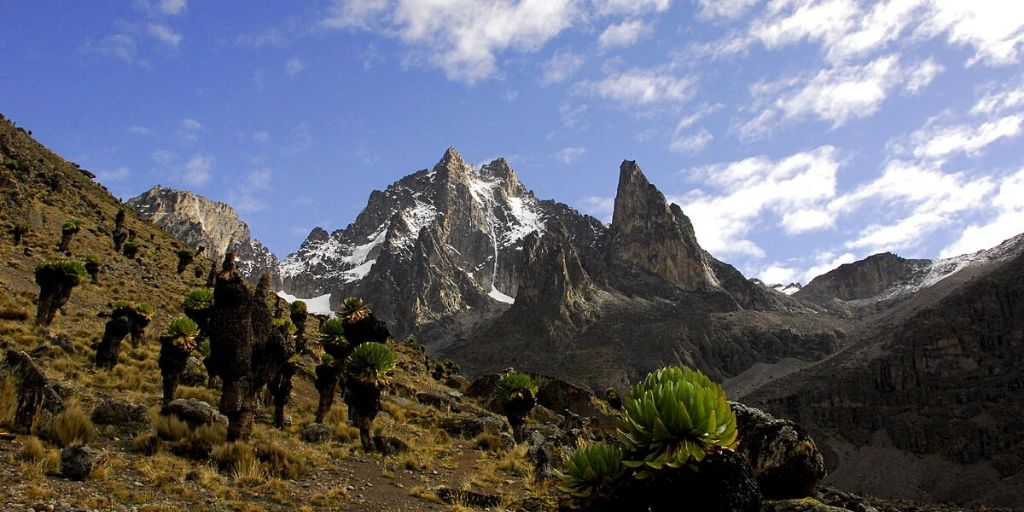 Mount Kenya, peak of second tallest mountain in Africa