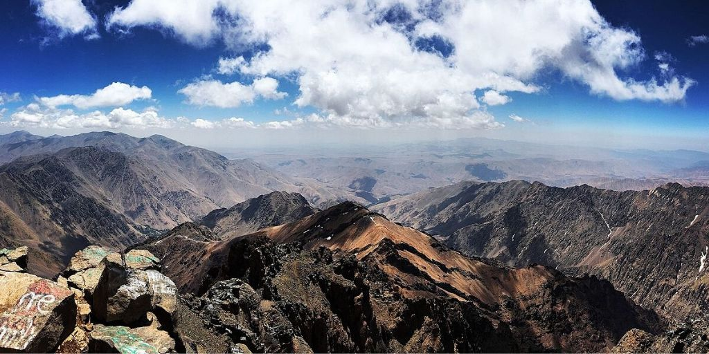 View from Toubkal peak