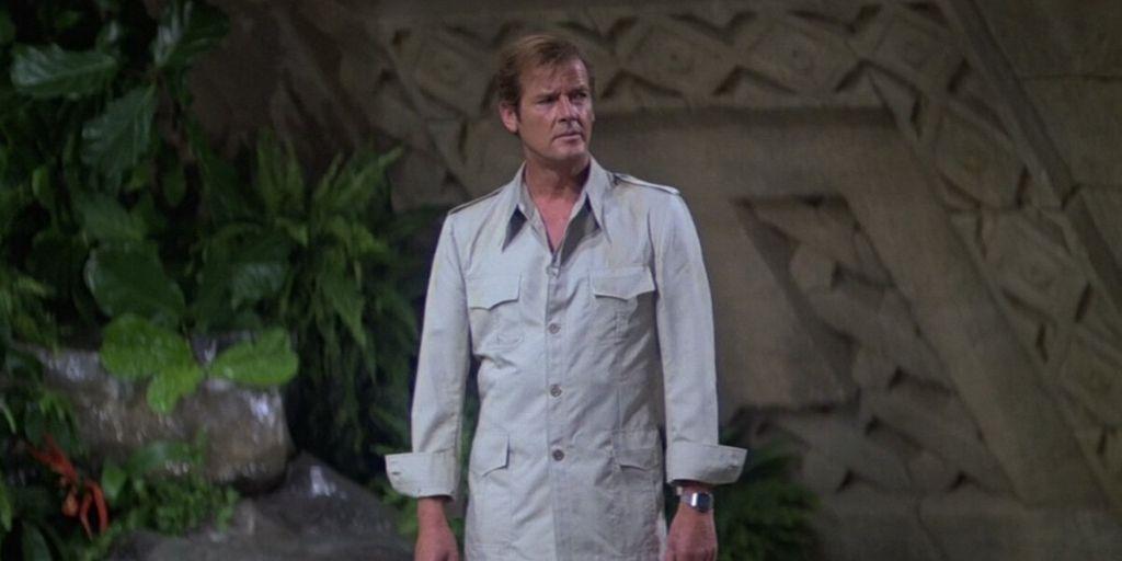 roger moore in 1970's safari suit